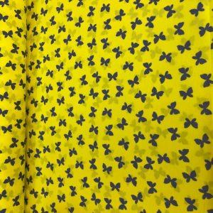 ملحفه تترون زرد