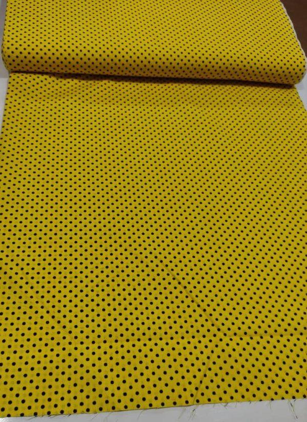 پوپلین زرد مشکی